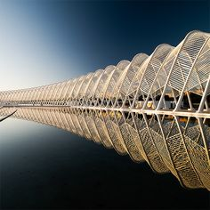 A great capture of the Arch (by architect Santiago Calatrava) outside the Athens Olympic Stadium