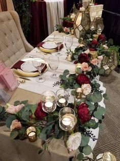 Impartial expressed elegant wedding centerpieces a Navy Wedding Centerpieces, Wedding Flower Arrangements, Floral Centerpieces, Reception Decorations, Floral Arrangements, Wedding Bouquets, Red Table Decorations, Head Table Decor, Purple Bouquets
