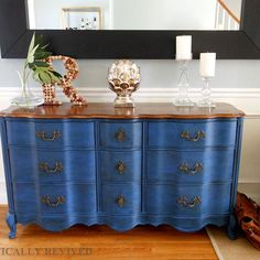 Gorgeous Before and After: Refinished Dresser