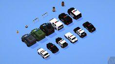 Low Poly Police Car Pack   GameDev Market