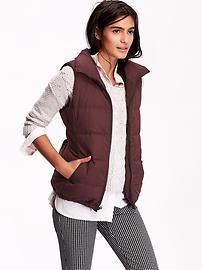 Women's Quilted Fleece-Lined Vest
