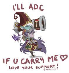 LOVE your SUPPORT! Lulu/Tristana by Sanshikisumire on DeviantArt