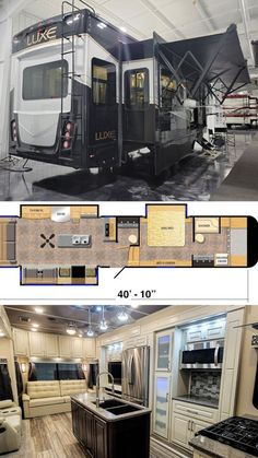 This Luxe 39FB Elite Fifth Wheel not only offers residential appliances but is one of our only floor plans to offer a Range Hood! Take a deeper dive into the essence of luxury. Luxury Fifth Wheel, 5th Wheels, Build Your Own, Recreational Vehicles, Floor Plans, Building, Appliances, Range, Diy
