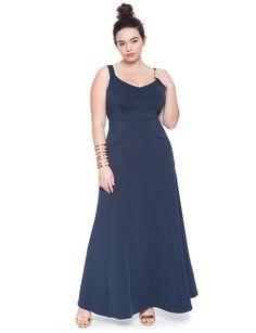 Studio Cutout Scuba Gown | Women's Plus Size Dresses | ELOQUII