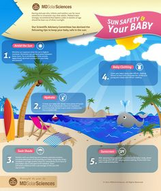 MD SolarSciences Infographic: Sun Safety for Babies