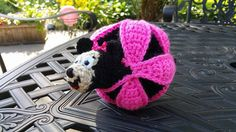 Crocheted Girl or Boy Mouse Puzzle Ball by JensNeedleKnows on Etsy