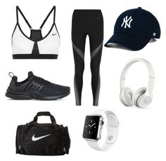 """Gym workout x🐼"" by macie-miller-1 on Polyvore featuring NIKE, Beats by Dr. Dre and Apple"