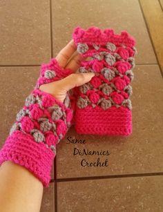 Floating Petals Fingerless Gloves 1