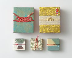 Chie Nagaura turns ancient mizuhiki mastery into modern art. Japan Branding, Japanese Wrapping, Japanese Packaging, Frugal Christmas, Pretty Packaging, Tea Packaging, Product Packaging, Food Packaging Design, Japanese Graphic Design