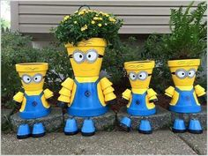 Minion Flower Pots
