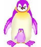 """35"""" Jumbo Mylar Penguin Balloon Fuchsia"""