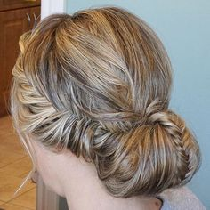 Messy+Chignon+With+Braids