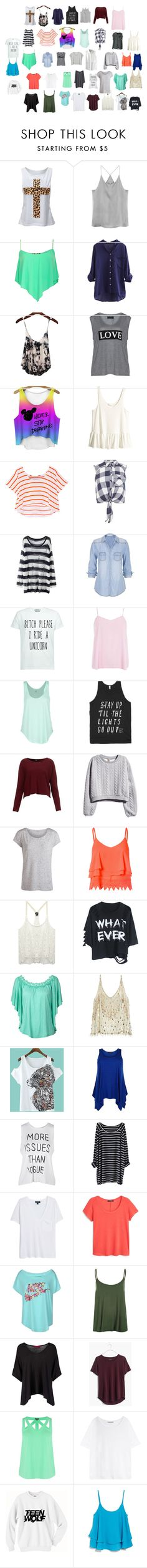 """cute tops"" by hopecutyorange ❤ liked on Polyvore featuring Carmakoma, H&M, Rebecca Minkoff, Miss Selfridge, maurices, Dorothy Perkins, Rip Curl, Pieces, Glamorous and Wet Seal"