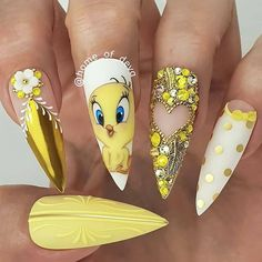 """""""your success is our reward"""" – Ugly Duckling Nails Inc. Disney Acrylic Nails, Summer Acrylic Nails, Best Acrylic Nails, Disney Nails Art, Pastel Nails, Summer Nails, Cartoon Nail Designs, Disney Nail Designs, Nagel Bling"""