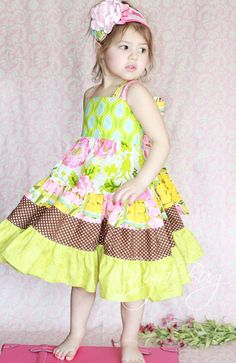 The April Spring Easter Dress by Sugar Bug by sugarbugclothing, $64.99