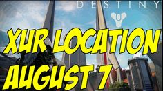 """Destiny Xur Agent Of The Nine Exotic Items 08/07/2015 """"Xur Exotic Items ..."""