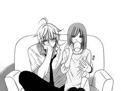 Shoujo Time haha i love this part Anime Couples Drawings, Anime Couples Manga, Cute Anime Couples, Manga Couple, Anime Love Couple, Anime Comics, Kawaii Anime, Anime Style, Manga Romance