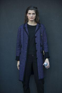 Model street style at Milan fashion week spring/summer '16: