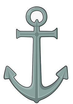 How to Draw an Anchor: 5 steps (with pictures) - wikiHow Nautical Pictures, Anchor Pictures, Simple Pictures, Kitchen Sign Diy, Anchor Painting, Rock Painting, Anchor Drawings, Hope Anchor, Drawing Tutorials For Beginners