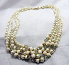4 strand pearl necklace or choker with by TreasureTrovebyTish, $12.00