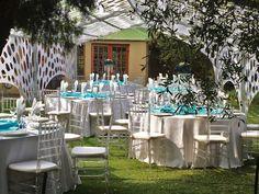 Wedding @ Three Oaks Function Venue in Centurion www.threeoaks.co.za Three Oaks, Garden Weddings, Wedding Venues, Table Decorations, Home Decor, Wedding Reception Venues, Wedding Places, Decoration Home, Room Decor