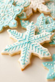 copos de nieve galletas