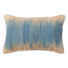 Check out this item at One Kings Lane! Dip-Dye 14x22 Wool-Blended Pillow, Blue