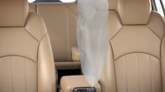 FRONT CENTER AIR BAG The industry-first front center air bag† helps protect the driver and front passenger in a side-impact collision and is a GM segment exclusive. First Class Seats, Luxury Crossovers, Suv Models, Crossover Suv, Buick Enclave, Mid Size Suv, Luxury Suv, Take A Seat, Car Seats