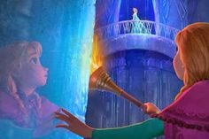 This is from when Elsa was originally evil...however, after the song   let it go   Disney decided that elsa wouldn't evil, so they changed the last half of the movie in order to make it work.