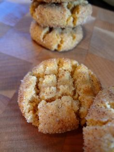 Flourless Cinnamon Sugar Peanut Butter Cookies: The Briarwood Baker.