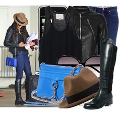 Nina Dobrev arrive at Lax Airport, created by elenadobrev90 on Polyvore