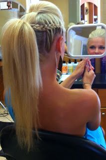 Braids & Hairstyles for Super Long Hair: Mohawk/Side French Braids Updo
