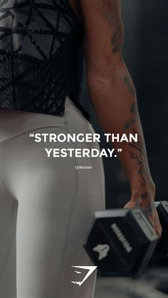 Stronger than yesterday Unknown. Stronger than yesterday Unknown. The post Stronger than yesterday Unknown. appeared first on fitness. Sport Motivation, Fitness Studio Motivation, Gym Motivation Quotes, Gym Quote, Fitness Motivation Pictures, Fitness Quotes, Abs Quotes, Workout Quotes, Strong Quotes