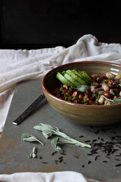 Wild Rice and Bean Bowl http://greenspiritadventures.org/2015/02/06/wild-rice-and-bean-bowl/
