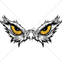 Cartoon Vector Mascot Image Of An Eagle Eyes