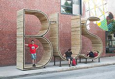 Really neat idea for a Bus Stop (A permanent public art project supported by Creative Alliance and Southeast Community Development Corporation in conjunction with the Baltimore Office of Promotion and the Arts, the European Union National Institutes for Culture (EUNIC), and SPAIN arts & culture. It is part of the initiative TRANSIT, Creative Placemaking with Europe in Baltimore.)