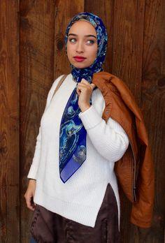 Blue Ocean Floor It Girl Hoda Scarf Hijab Wrap