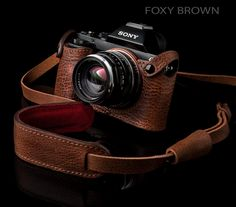 Angelo Pelle Sony A7R Foxy Brown Leather Case - Sony A7/A7R Get Stylish Leather Cases from Angelo Pelle - Softpedia