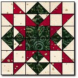 Christmas Star - Quilter's Cache  This would be beautiful as a multi-block table runner for Christmas!
