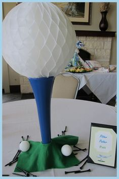 So, I just HAD to share my bestie& recent baby sprinkle with you. Her coworkers decided to throw her a baby boy sprinkle (aka: mini shower. Golf Table Decorations, Golf Centerpieces, Decoration Table, Centerpiece Ideas, Graduation Centerpiece, Quinceanera Centerpieces, Golf Party Foods, Golf Baby Showers, Baby Boy Sprinkle