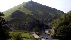 A view of the river and Thorpe Cloud at Dovedale -Ilam Park