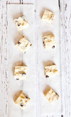 White Chocolate Peanut, Pretzel, & Chocolate Chip Fudge. Very rich, creamy, sweet, & decadent. No-Bake & Microwave-Friendly.