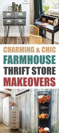 Charming and Chic Farmhouse Thrift Store Makeovers   You are going to find tons of technique... ideas and inspiration here.  You will be ready for your next makeover for sure!  #ThriftStoreMakeovers #Makeovers #FurnitureMakeovers #ThriftStoreFarmhouseDIYS #Upcycle #Upcycled #UpcycledProjects #ThriftStoreUpcycle #Farmhouse #FarmhouseDIY #FarmhouseThriftStoreMakeovers
