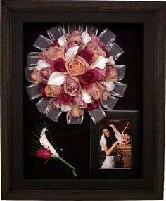 Framed Wedding Bouquet 2 Treasure Memories Display Them Pinterest Freeze Drying Weddings And
