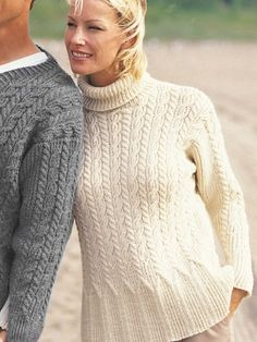 Casual Cables (for her) Free Patons  Knitting Pattern @ Yarnspirations