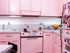 Pink Kitchen Cabinets cool pink kitchen cabinets | modern cabinet | dreaming in pink