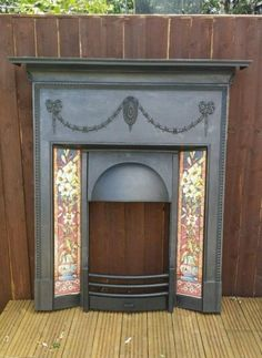 Original Antique Victorian Edwardian Cast Iron Tiled Combination Fireplace Full on Gumtree. Original Antique Victorian/Edwardian Fire surround. Had been fully stripped and restored by hand