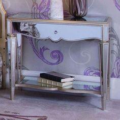 Jessica McClintock Mink Bedroom Mirrored Nightstand