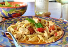 """Chicken and Pasta in White Wine Garlic Sauce: """"This is a great recipe. It's a lighter pasta dish that makes a good summer-to-fall transition."""" -AKillian24"""