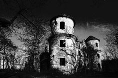 Abandoned manor house in Ossig, Poland.